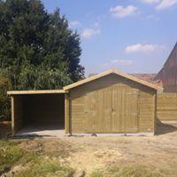 construction de garage et de carport classique en bois en belgique et en France