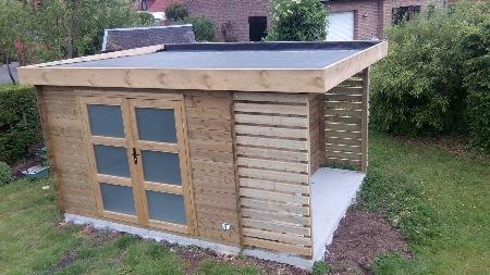 construction de chalet moderne en bois dans le nord et en Belgique