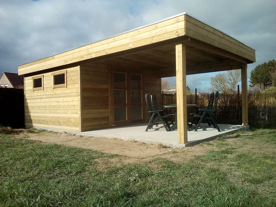 chalet lounge en bois moderne chez maxichalet à Rumes